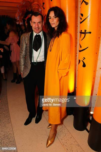 Hedvig Opshaug and Eduardo Rosso join SUSHISAMBA and Cool Earth to celebrate SAMBAZONIA at SUSHISAMBA on February 28 2017 in London England