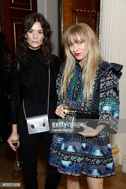 Hedvig Opshaug and Sandra Hagelstam attend a private dinner hosted by Stuart Weitzman and Gigi Hadid to celebrate the opening of the Stuart Weitzman...