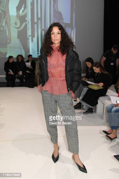 Hedvig Opshaug attends the Chalayan show during London Fashion Week February 2019 at Sadlers Wells Theatre on February 18 2019 in London England
