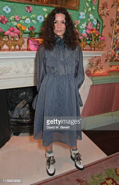 Hedvig Opshaug attends the Kurt Geiger and Susie Bubble celebration for the new 'Characterful Style' campaign at Annabel's on February 15 2019 in...