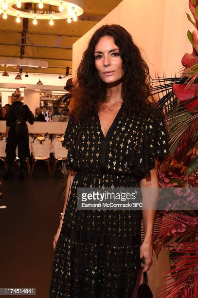 Hedvig Opshaug attends the Paula Knorr show during London Fashion Week September 2019 at the Harvey Nichols on September 13, 2019 in London, England.
