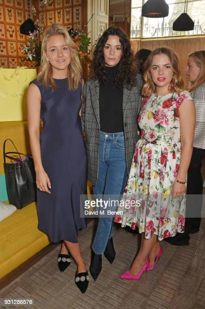 Hedvig Opshaug poses with Espie Roche cofounder Hermione Espie Underwood and Alexandra RocheHamilton attend the Espie Roche launch breakfast at The...