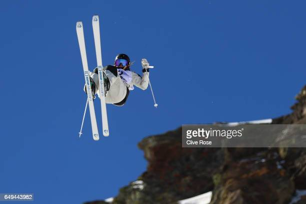 Hedvig Wessel of Norway competes in the Women's Moguls qualification on day one of the FIS Freestyle Ski Snowboard World Championships 2017 on March...