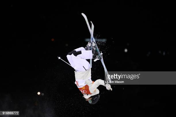 Hedvig Wessel of Norway trains during warmup ahead of the Freestyle Skiing Ladies' Moguls Final on day two of the PyeongChang 2018 Winter Olympic...