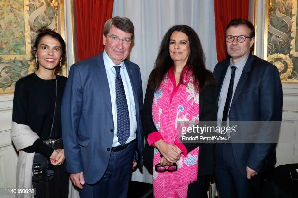 Hedwige Gronier French Academician Xavier Darcos Francoise Bettencourt Meyers Director of the Opera Comique Olivier Mantei attend the Fondation...