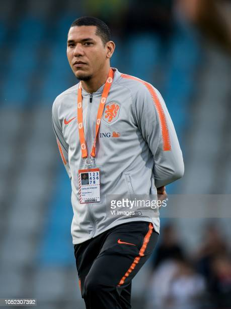 Hedwiges Maduro during the EURO U21 2019 qualifying match between The Netherlands U21 and Ukraine U21 at the Vijverberg stadium on October 16 2018 in...