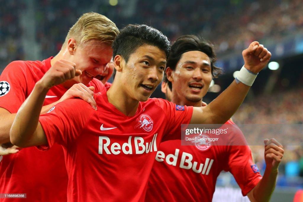 RB Salzburg v KRC Genk: Group E - UEFA Champions League : News Photo