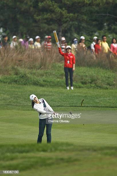 Hee Kyung Seo of South Korea in action during the second round of the Reignwood LPGA Classic at Pine Valley Golf Club on October 4 2013 in Beijing...