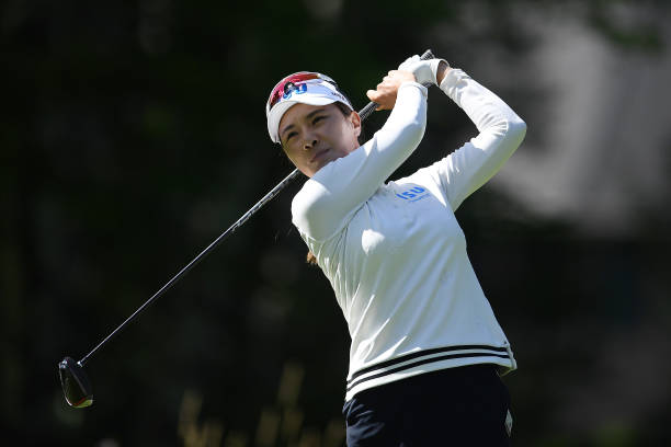 Hee Young Park of Korea hits her tee shot on the 18th hole during the second round of the Thornberry Creek LPGA Classic at Thornberry Creek at Oneida...