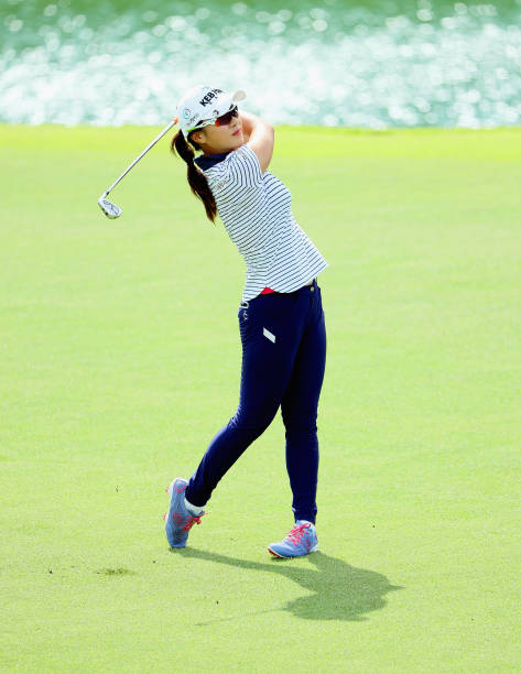 Hee Young Park of Korea in action during the first round of the HSBC Women's Champions on the Tanjong Course at Sentosa Golf Club on March 2 2017 in...
