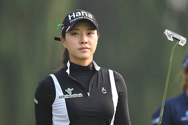 Hee Young Park of Korea looks on during the 3rd round of the 2016 Reignwood LPGA Classic on October 1 2016 in Beijing China