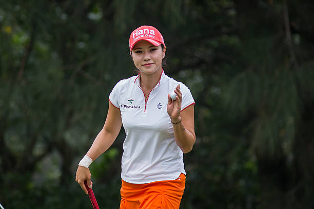 Hee Young Park of Republic of Korea waves her ball in the Fubon Taiwan LPGA Championship on October 8 2016 in Taipei Taiwan