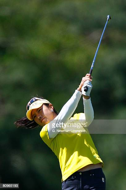 Hee Young Park of South Korea hits a shot on the 18th hole during the second round of the SemGroup Championship presented by John Q Hammons on May 2...