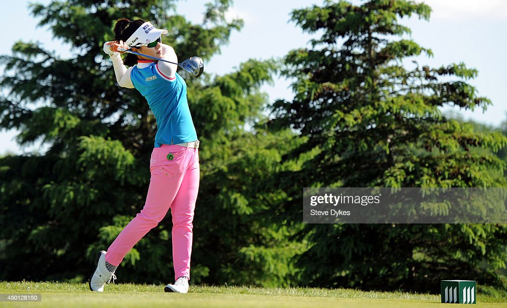 Hee Young Park of South Korea hits drive on the sixth hole during the first round of the Manulife Financial LPGA Classic at the Grey Silo Golf Course on June 5, 2014 in Waterloo, Ontario, Canada.