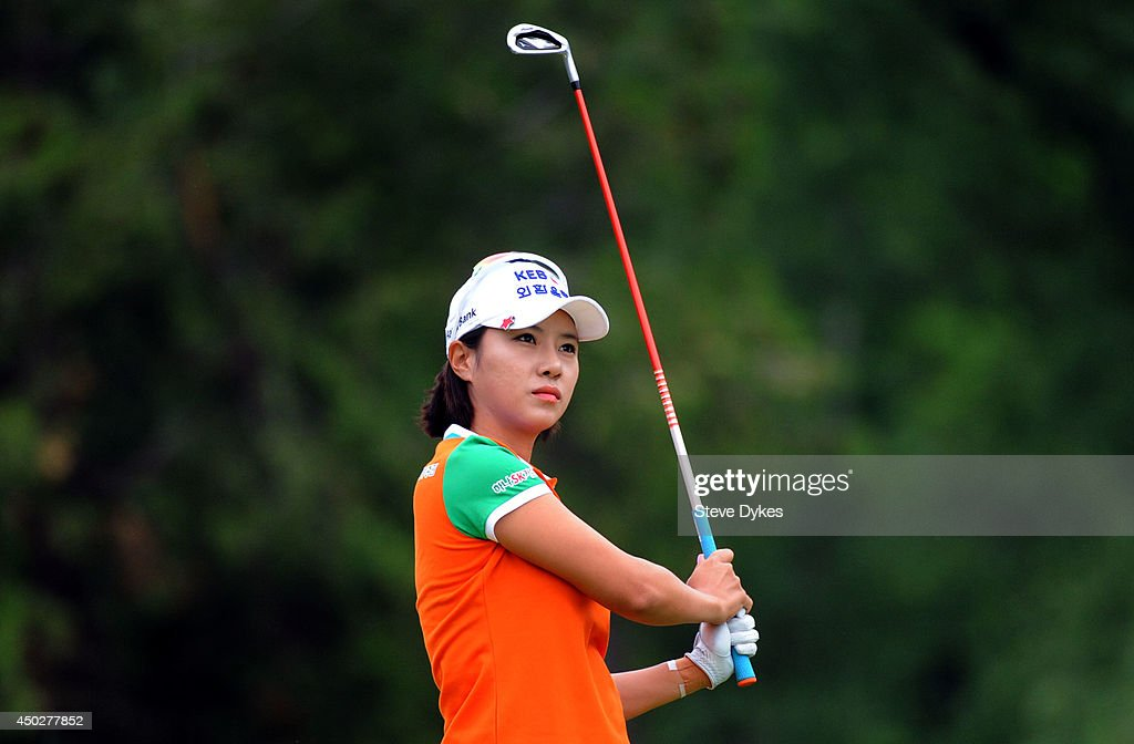 Hee Young Park of South Korea hits her drive on the third hole during the final round of the Manulife Financial LPGA Classic at the Grey Silo Golf Course on June 8, 2014 in Waterloo, Ontario, Canada.