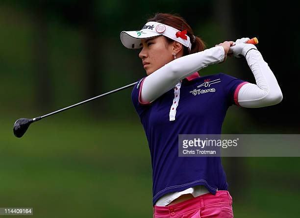 Hee Young Park of South Korea on the third hole during round one of the Sybase Match Play Championship at Hamilton Farm Golf Club on May 19 2011 in...