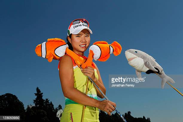 Hee Young Park of South Korea poses for a portrait during the Safeway Classic at Pumpkin Ridge Golf Club on August 18 2011 in North Plains Oregon