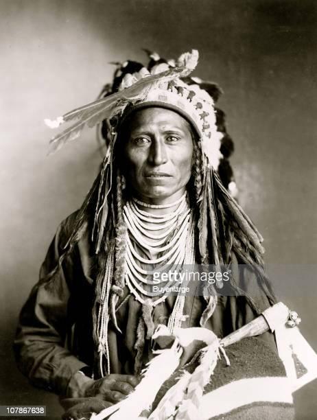 Heebeteetse Shoshone Indian halflength portrait facing front 1899