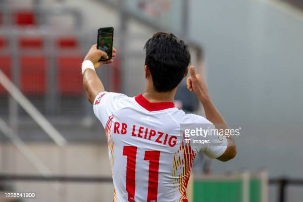 Heechan Hwang of RB Leipzig during the DFB Cup first round match between 1 FC Nuernberg and RB Leipzig at MaxMorlockStadion on September 12 2020 in...