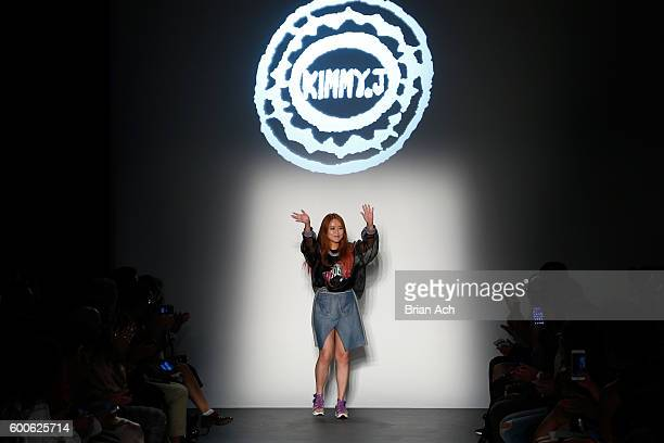 Heejin Kim onstage at the Concept Korea fashion show during New York Fashion Week The Shows September 2016 at Pier 59 Studios on September 8 2016 in...
