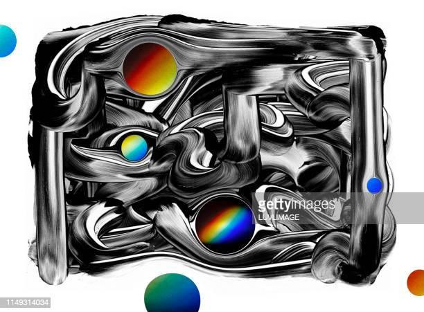 heelal ontwerp met kleuren spectrum. - ontwerp stock pictures, royalty-free photos & images