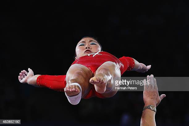 Heem Wei Lim of Singapore warms up during the Women's Team Final Individual Qualification at SECC Precinct during day five of the Glasgow 2014...