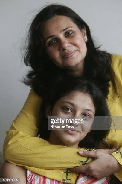 Heena Shah a stay at home mom with her daughter Farzana at their residence in Sion
