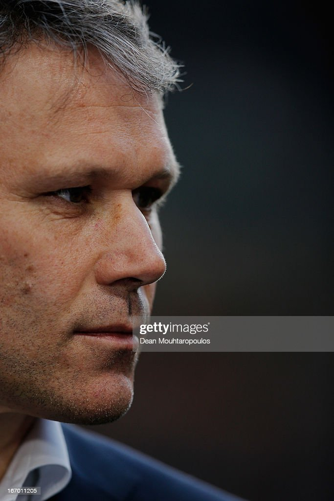 Heerenveen Manager / Coach, Marco van Basten looks on during the Eredivisie match between Ajax Amsterdam and SC Heerenveen at Amsterdam Arena on April 19, 2013 in Amsterdam, Netherlands.