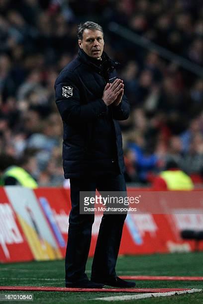 Heerenveen Manager / Coach Marco van Basten reacts on the sidelines during the Eredivisie match between Ajax Amsterdam and SC Heerenveen at Amsterdam...