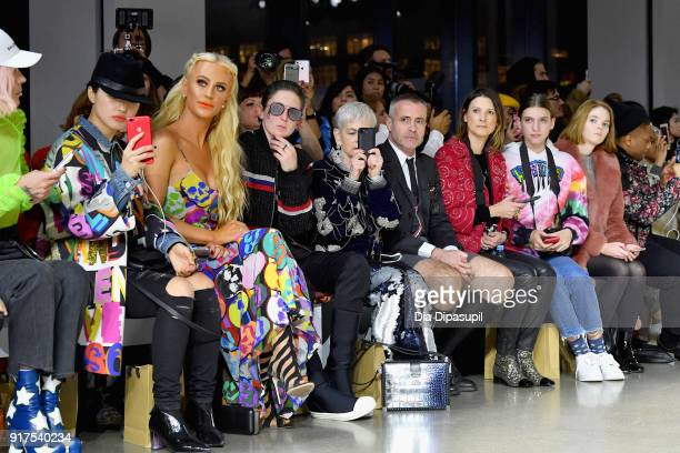 Heewon Kim Gigi Gorgeous Nats Getty Lyn Slater and Thom Brown attend the Libertine fashion show during New York Fashion Week The Shows at Gallery II...