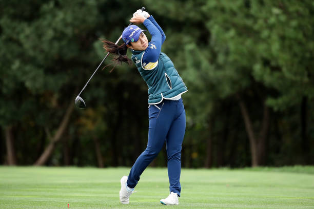 HeeYoung Park of South Korea plays a tee shot on the 2nd hole during the first round of the LPGA KEB Hana Bank Championship at the Sky 72 Golf Club...