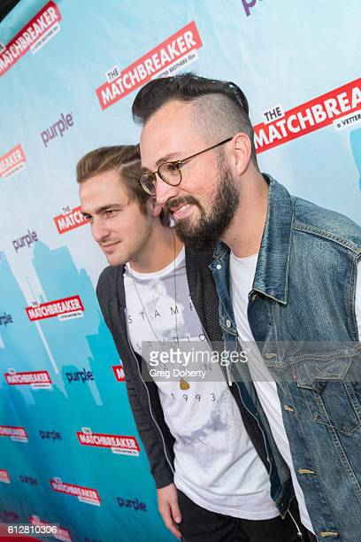 """Heffron Drive Band Members, Kendall Schmidt and Dustin Belt arrive for the Red Carpet Premiere Of Stadium Media's """"The Matchbreaker"""" at the ArcLight..."""