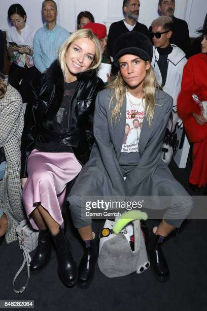 Hege Aurelie Badendyck and Blanca Miro attend the Anya Hindmarch show during London Fashion Week September 2017 on September 17 2017 in London England