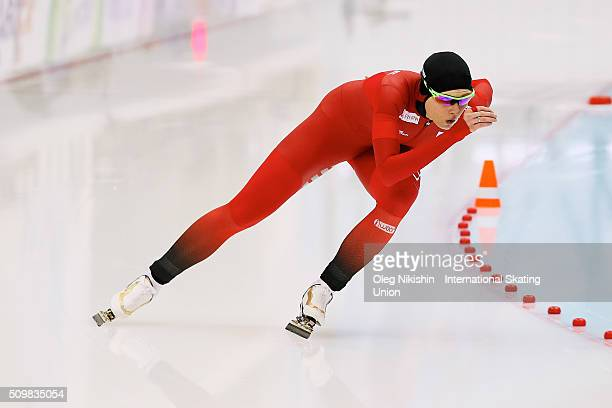Hege Bokko of Norway compete in the Ladies 1000 meters race during day 2 of the ISU World Single Distances Speed Skating Championships held at Speed...