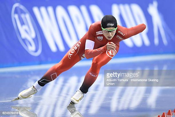 Hege Bokko of Norway competes in Ladies 1000m Division A at M Wave on November 19 2016 in Nagano Japan
