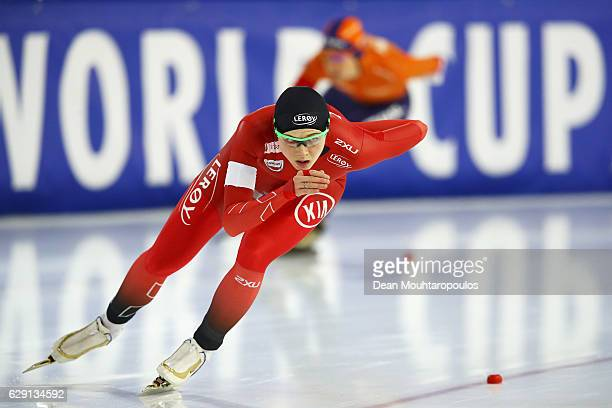 Hege Bokko of Norway competes in the 1000m Ladies race on Day Three of the Speed Skating ISU World Cup on December 11 2016 in Heerenveen Netherlands