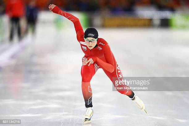 Hege Bokko of Norway competes in the 1000m Ladies Race on Day Two of the ISU European Speed Skating Championships held at the Thialf on January 7...