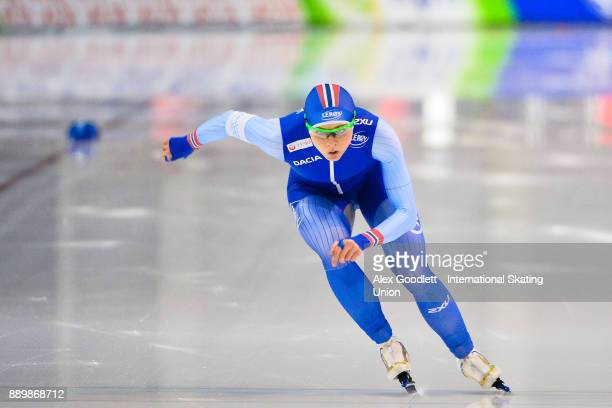 Hege Bokko of Norway competes in the ladies 1000 meter final during day 3 of the ISU World Cup Speed Skating event on December 10 2017 in Salt Lake...