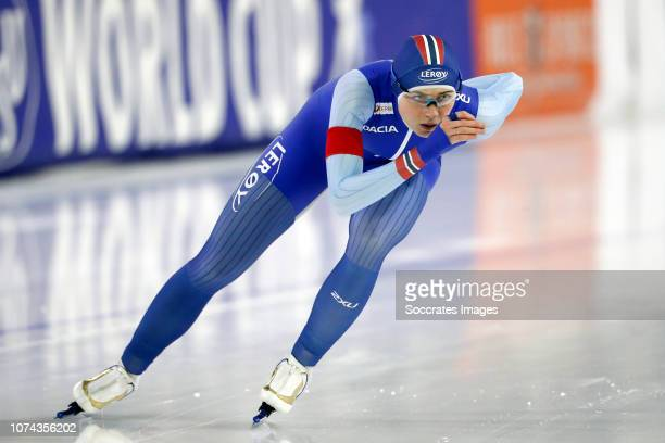 Hege Bokko of Norway during the 1000m during the ISU World Cup 4 at the Thialf Stadium on December 16 2018 in Heerenveen Netherlands