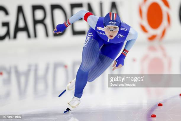 Hege Bokko of Norway during the 500m during the ISU World Cup 4 at the Thialf Stadium on December 15 2018 in Heerenveen Netherlands