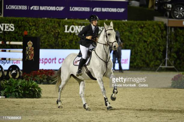 Hege C Tidemandsen riding Carvis of Norway during Longines FEI Jumping Nations Cup Final Challenge Cup on October 5 2019 in Barcelona Spain
