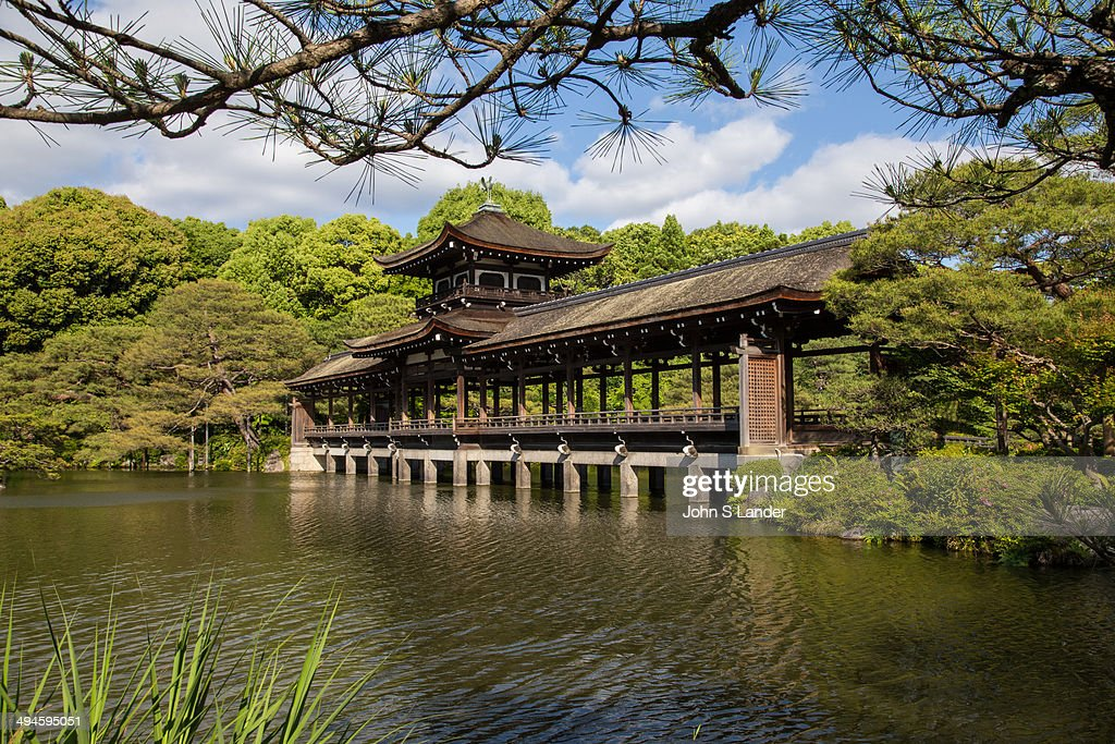 Heian Shrine Garden Bridge   The Garden Was Designed By Gardener Jihei  Ogawa Who Created The
