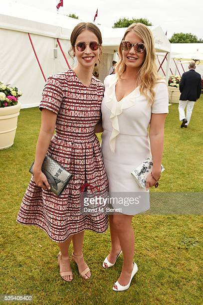 Heida Reed and Lady Kitty Spencer attend The Cartier Queen's Cup Final at Guards Polo Club on June 11 2016 in Egham England