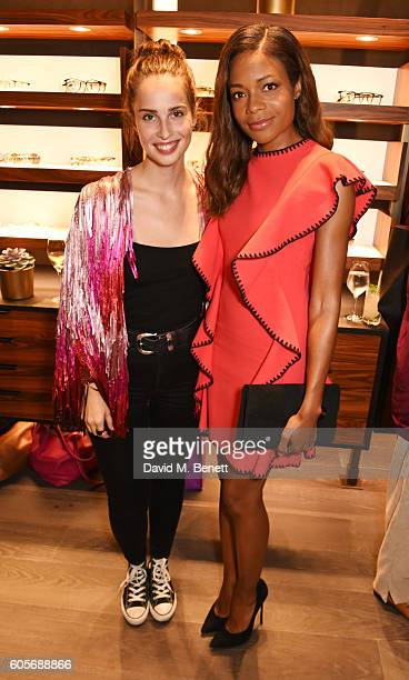 Heida Reed and Naomie Harris attend the first Oliver Peoples boutique launch in Europe on September 14 2016 in London England