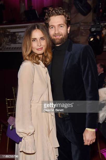 Heida Reed and Sam Ritzenberg attend the after party of the 65th Evening Standard Theatre Awards In Association With Michael Kors at London Coliseum...
