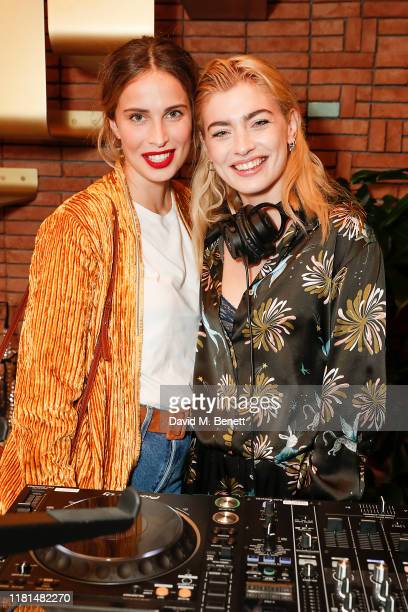 Heida Reed and Sydney Lima attend the Forte Forte store launch on October 16 2019 in London England