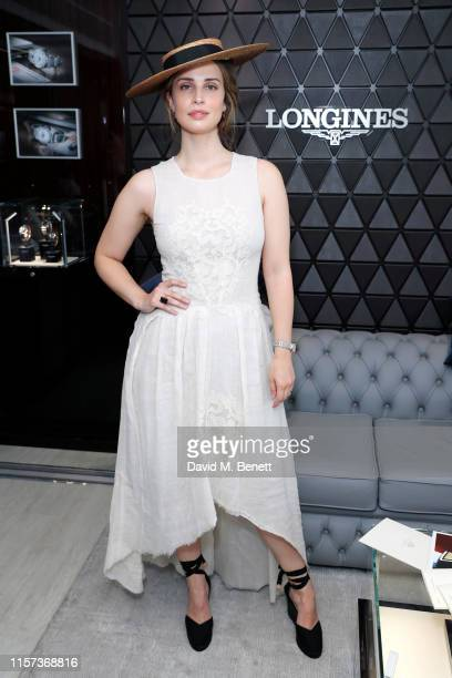 Heida Reed attends Longines host VIPs in their private suite Royal Enclosure at Royal Ascot on June 21 2019 in Ascot England