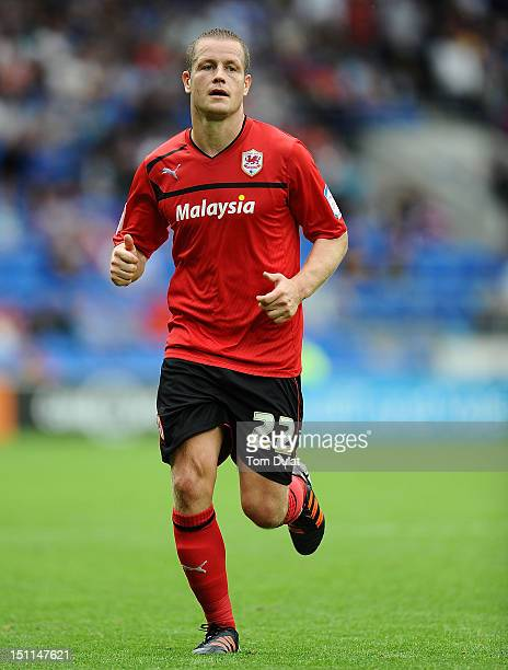 Heidar Helguson of Cardiff City in action during the npower Championship match between Cardiff City and Wolverhampton Wanderers at Cardiff City...