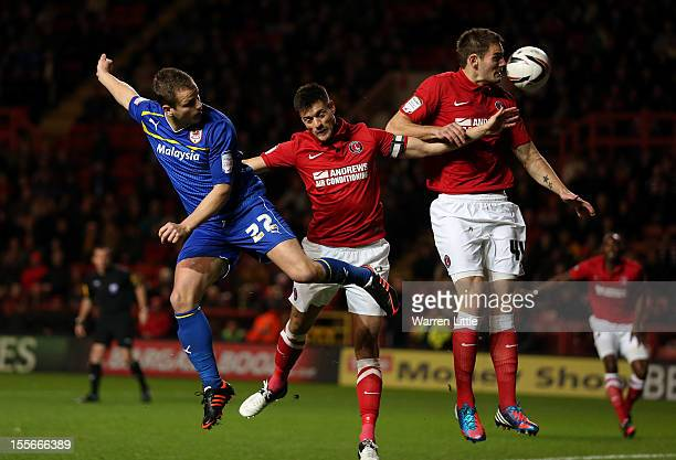 Heidar Helguson of Cardiff City opens the scoring during the npower Championship match between Charlton Athletic and Cardiff City at The Valley on...