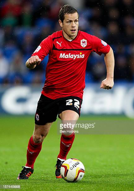 Heidar Helguson of Cardiff in action during the npower Championship match between Cardiff City and Sheffield Wednesday at the Cardiff City Stadium on...